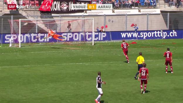 Video «Fussball: Vaduz-Aarau» abspielen