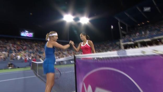 Video «Tennis: WTA Cincinnati, 1. Runde, Bacsinszky - Keys, der Matchball» abspielen