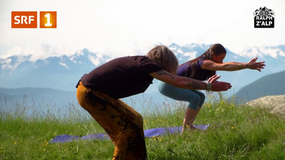 Innovation auf der Alp: Yoga-Lektionen