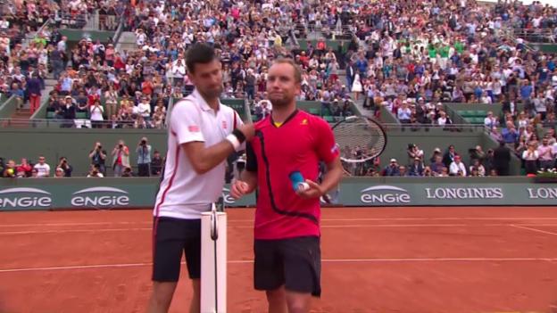 Video «Entscheidende Punkte bei Djokovic - Darcis» abspielen