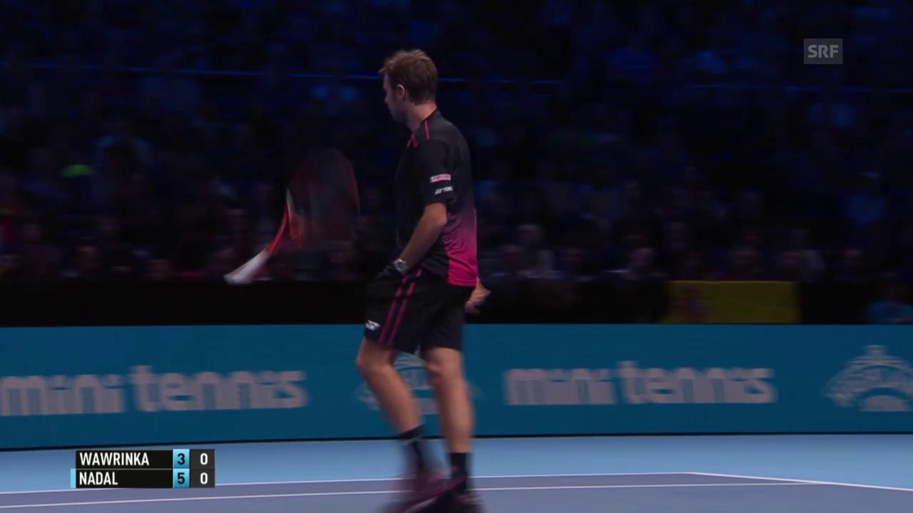 Tennis: ATP Finals, Zusammenfassung Nadal - Wawrinka