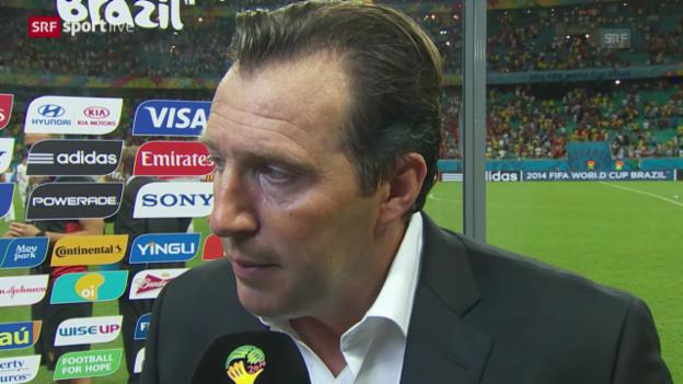 Video «Belgien - USA: Interview mit Marc Wilmots» abspielen
