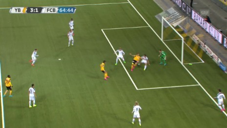Video «Fussball: 9. Runde Super League, YB-Basel, 3:1 Gerndt» abspielen