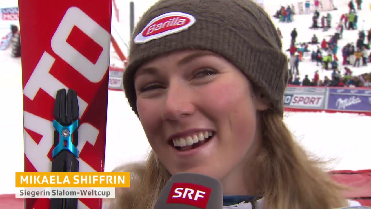 Ski: Slalom Frauen, Méribel, Interview Mikaela Shiffrin