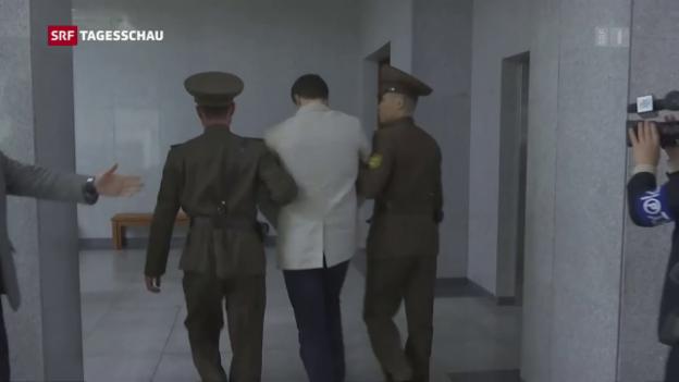 Video «Empörung nach dem Tod von Warmbier» abspielen