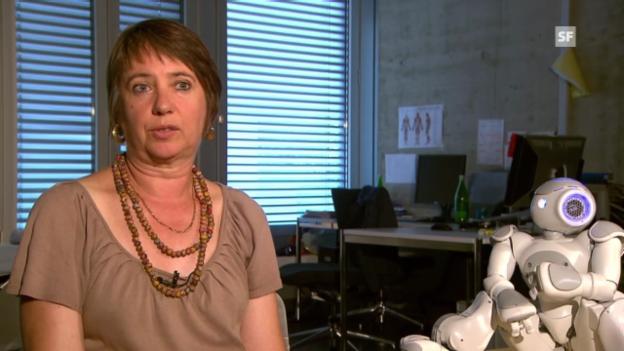 Video «Studienleiterin Becker zu rechtlichen Roboterfragen.» abspielen