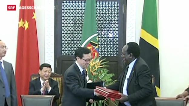 Video «China und Tansania verstärken Partnerschaft» abspielen