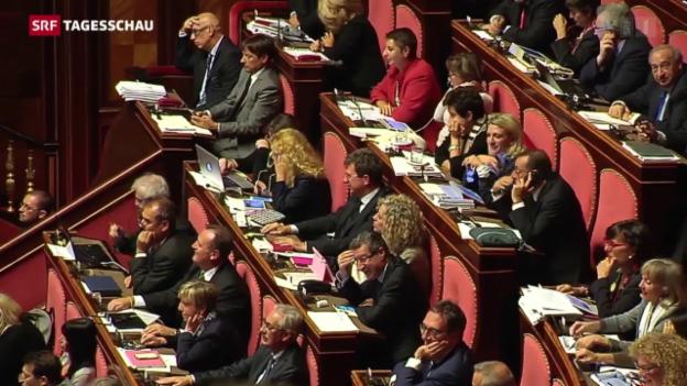 Video «Senatsreform in Italien» abspielen