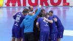 Video «Schweizer Handballer verpassen Titelverteidigung am Yellow Cup» abspielen