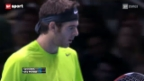 Video «Tennis: ATP Finals in London, 1. Halbfinal» abspielen
