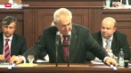 Video «Tschechische Regierung stellt sich dem Parlament» abspielen