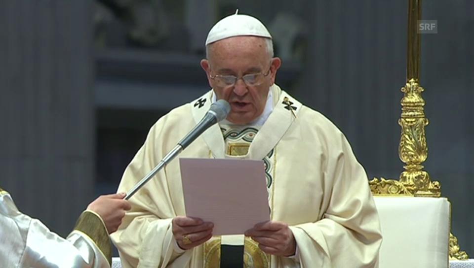Die Aussage von Papst Franziskus während der Messe