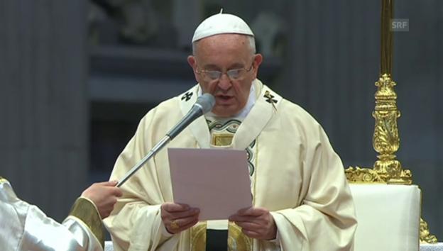 Video «Die Aussage von Papst Franziskus während der Messe» abspielen