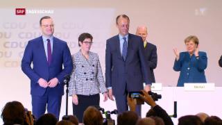 Video «Annegret Kramp-Karrenbauer ist neue CDU-Chefin» abspielen
