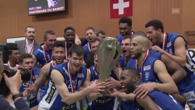 Video «So holte sich Fribourg Olympic den Titel» abspielen