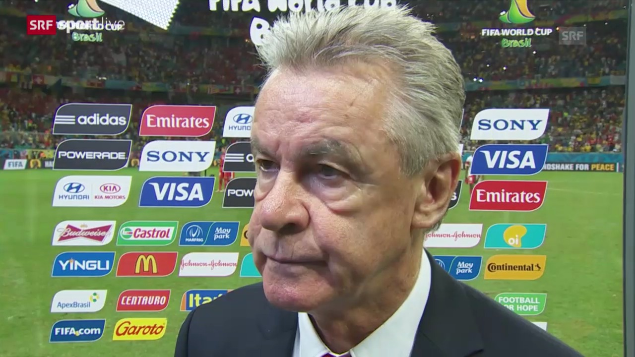 Fussball. WM 2014, SUI-FRA, Interview Hitzfeld