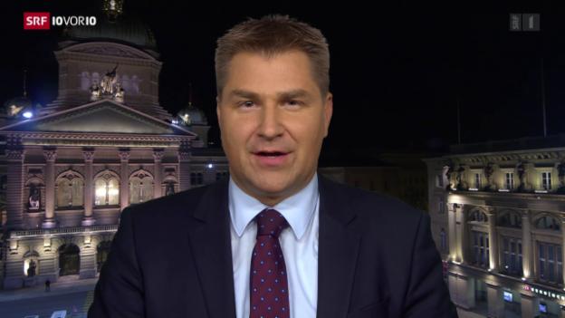 Video «Toni Brunner verteidigt die Ausschlussklausel der SVP» abspielen