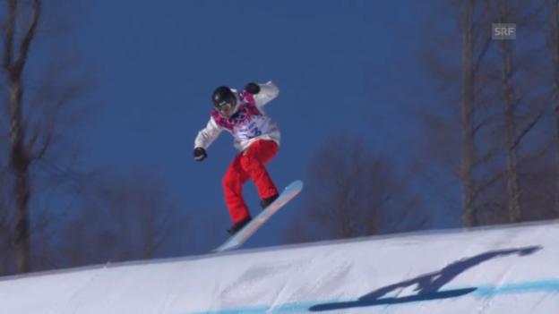 Video «Sotschi: Snowboard Slopestyle Männer, Qualifikation, 2. Lauf Lucien Koch» abspielen