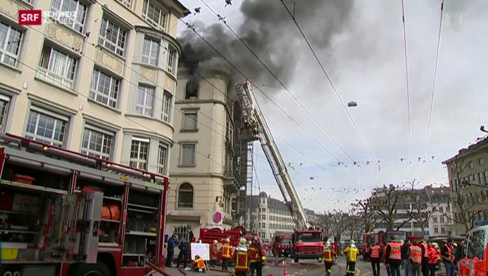 Toter bei Grossbrand in St. Gallen