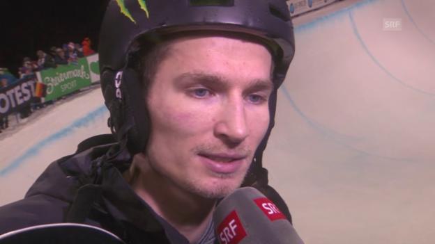 Video «Snowboard: Freestyle-WM in Kreischberg, Final Halfpipe, Interview mit Iouri Podladtchikov» abspielen