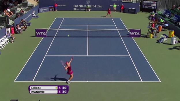 Video «Tennis: Aufschlag-Weltrekord von Sabine Lisicki» abspielen