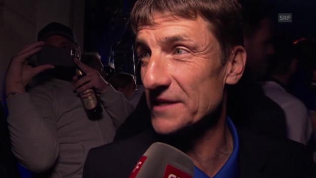 Video «Fussball: Cupfeier FC Zürich, Interview mit Urs Meier» abspielen