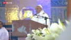 Video «Brasilien: Papst hält Moralpredigt» abspielen