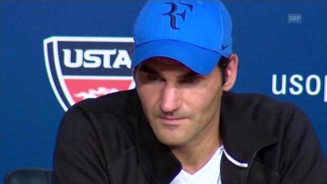 Federer an der Medienkonferenz