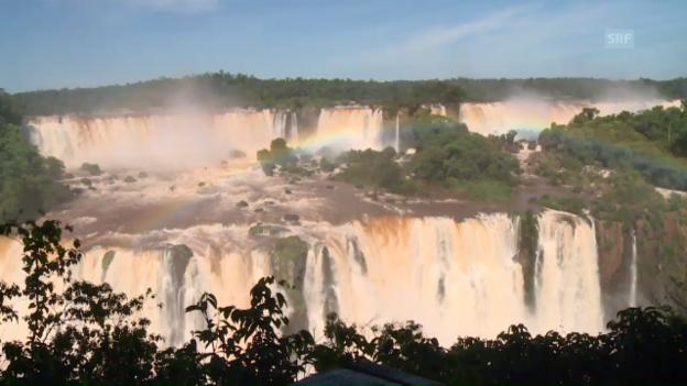 Video «Naturgewalt und Schauspiel: Wasserfälle von Iguazu» abspielen