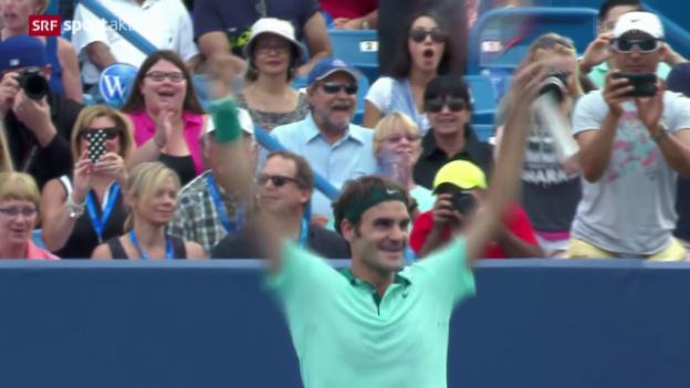 Video «Tennis: Federer triumphiert in Cincinnati» abspielen