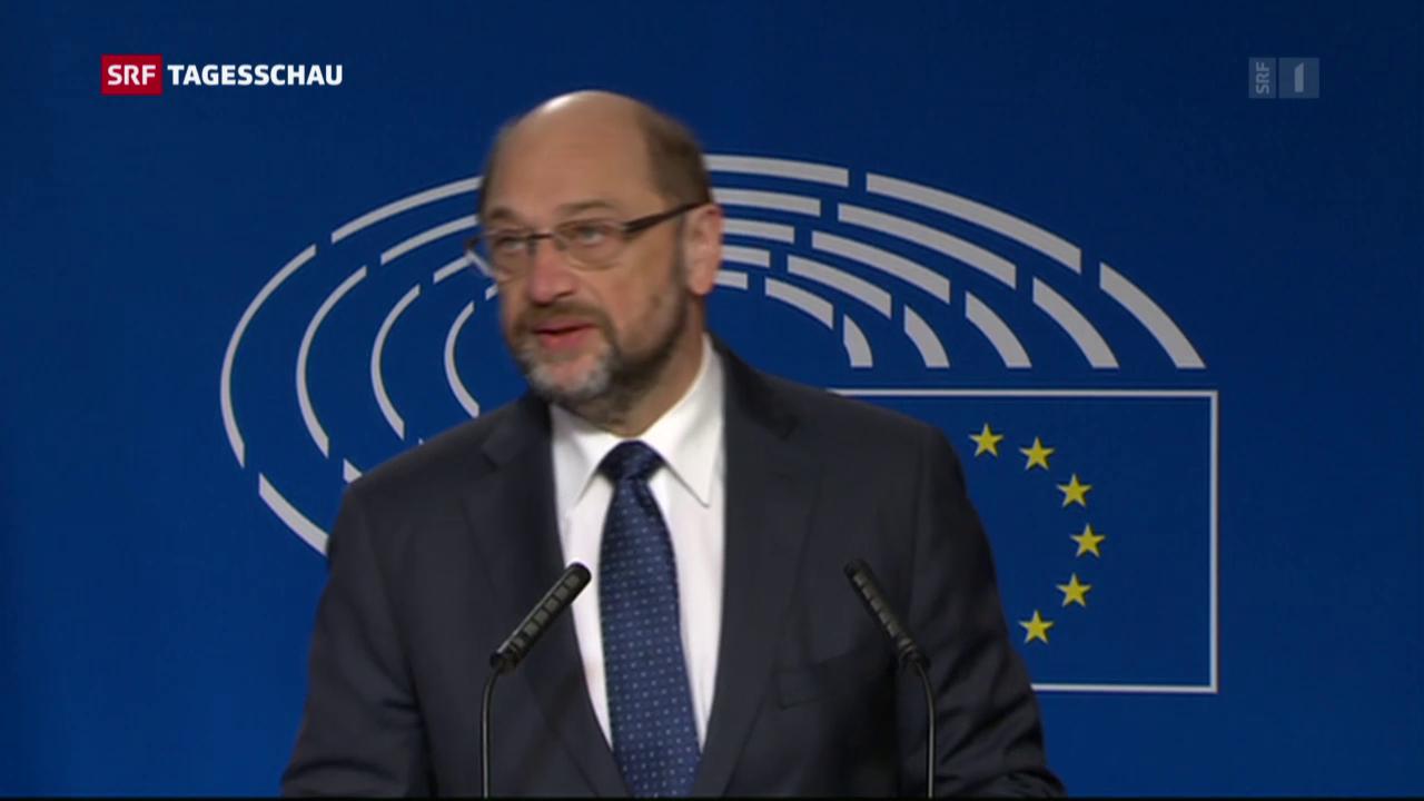 Schulz gibt sein EU-Amt auf
