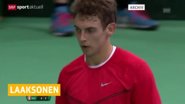 Video «Tennis: Wild Card für Laaksonen in Gstaad» abspielen