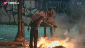 Video «Venezuelas Studenten fordern Maduros Rücktritt» abspielen