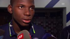 Video «Embolo: «Bei Schalke ist alles ein bisschen grösser»» abspielen