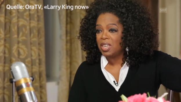 Video «Oprah Winfrey spricht bei Larry King über ihr Shopping-Erlebnis in Zürich» abspielen