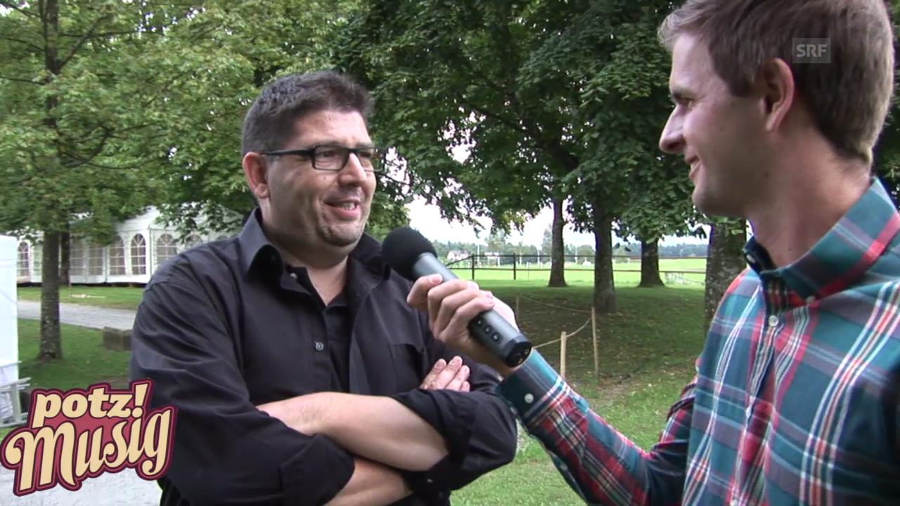 «Potzmusig» hinter den Kulissen: Markus Flückiger