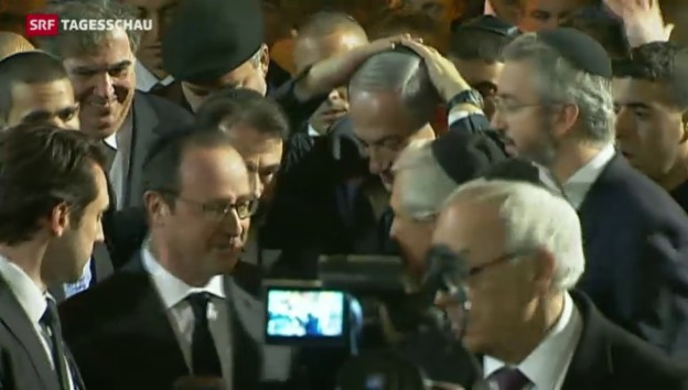 Video «Terror in Paris: Trauer um jüdische Opfer» abspielen