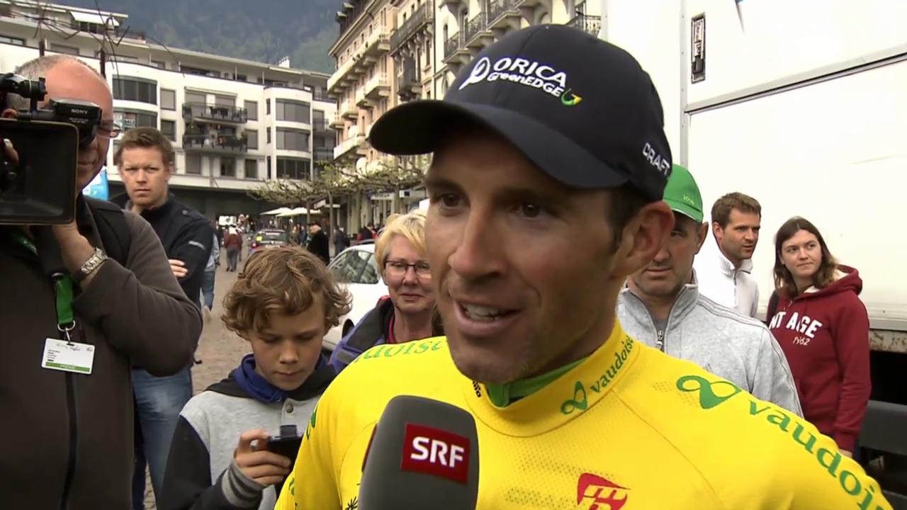 Rad: Tour de Romandie, 2. Etappe, Siegerinterview mit Michael Albasini