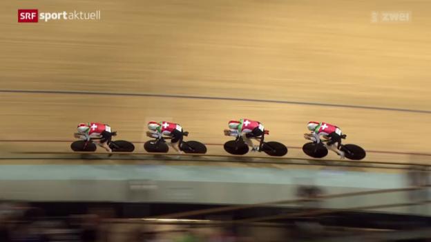 Video «Rad: Bahn-WM in Frankreich, Teamverfolgung» abspielen
