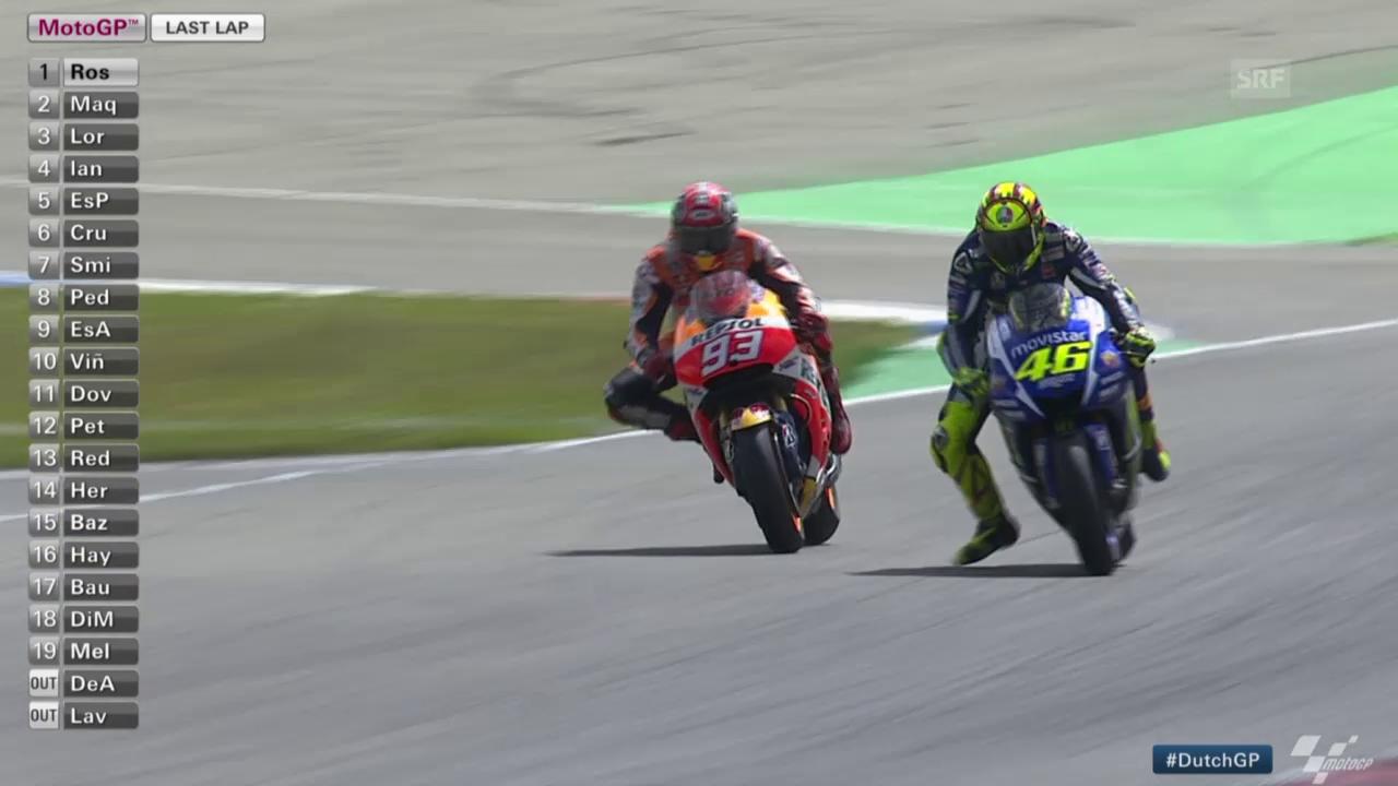 MotoGP: GP von Holland, Rossi mit 3. Saisonsieg