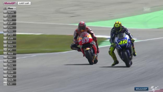 Video «MotoGP: GP von Holland, Rossi mit 3. Saisonsieg» abspielen