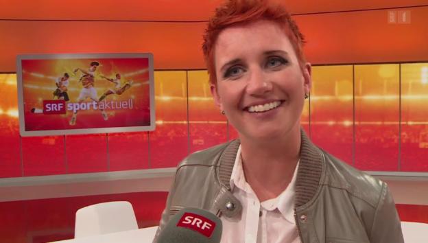 Video «SRF-Sportmoderatorin: «Buchli hat ein Büchli»» abspielen