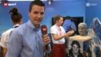 Video «Paddy Kälin führt durchs »House of Switzerland»» abspielen