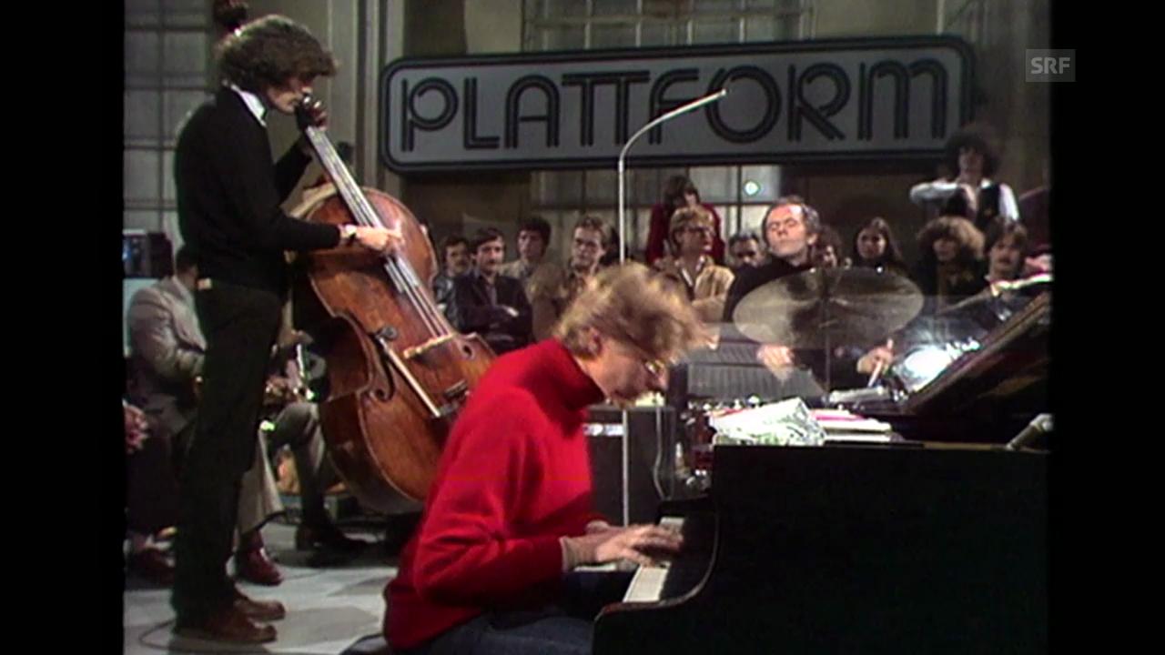 Das «Jazz Live Trio» im Tramdepot Tiefenbrunnen, 30. 3. 1979