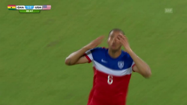 Video «FIFA WM 2014: Ghana - USA: 2:1 durch Brooks» abspielen