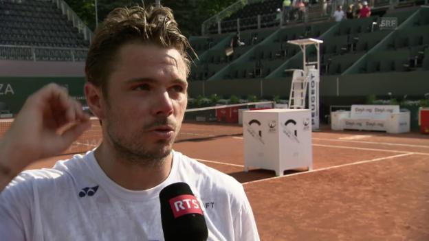 Video «Wawrinkas Ziele vor den French Open (franz.)» abspielen