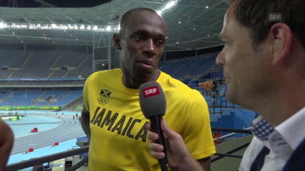 Video «Bolt und seine Staffel-Kollegen im Interview» abspielen