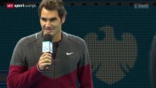 Video «Rogers Federers Absage für den Final in London» abspielen