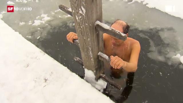 Februar 2012: Eisschwimmer, Landwirte, Schlittenhunde - die Kälte hat auch gute Seiten.