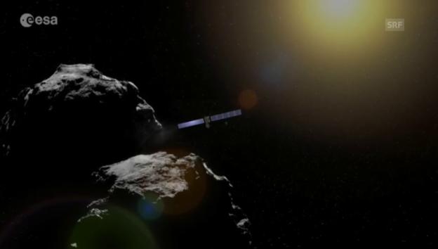 Video «Rosettas Bilder vom Kometen Tschuri» abspielen